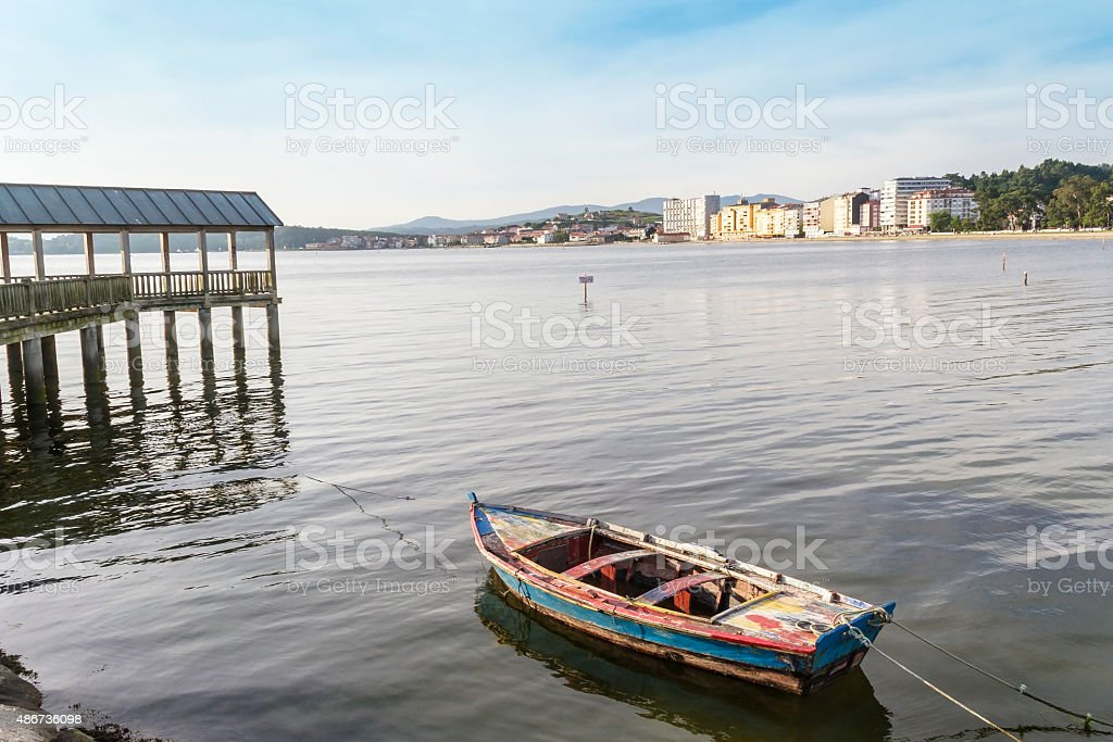 Viewpoint and boat royalty-free stock photo