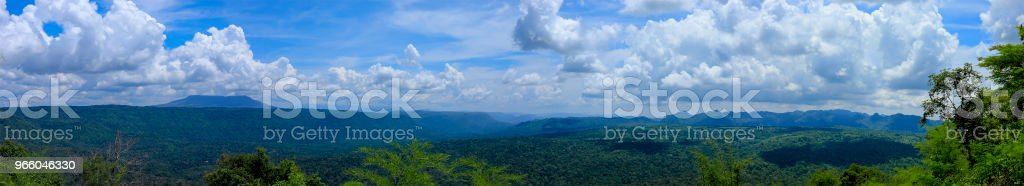 viewpoint and the long mountain at Chulabhorn Dam ,Chaiyaphum THAILAND - Стоковые фото Азия роялти-фри