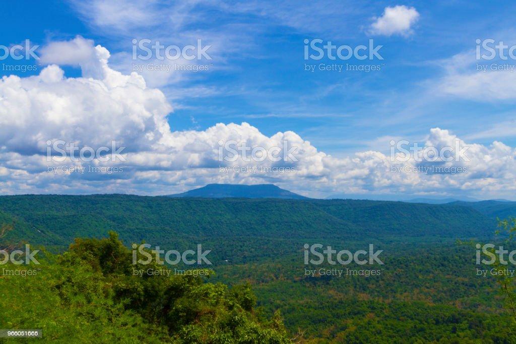 gezichtspunt en de lange berg Chulabhorn Dam, Chaiyaphum THAILAND - Royalty-free Azië Stockfoto
