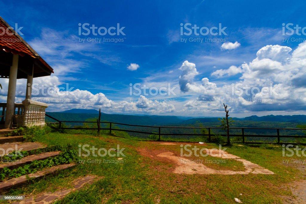 Sicht und den langen Berg am Chulabhorn-Damm, Chaiyaphum THAILAND - Lizenzfrei Anhöhe Stock-Foto