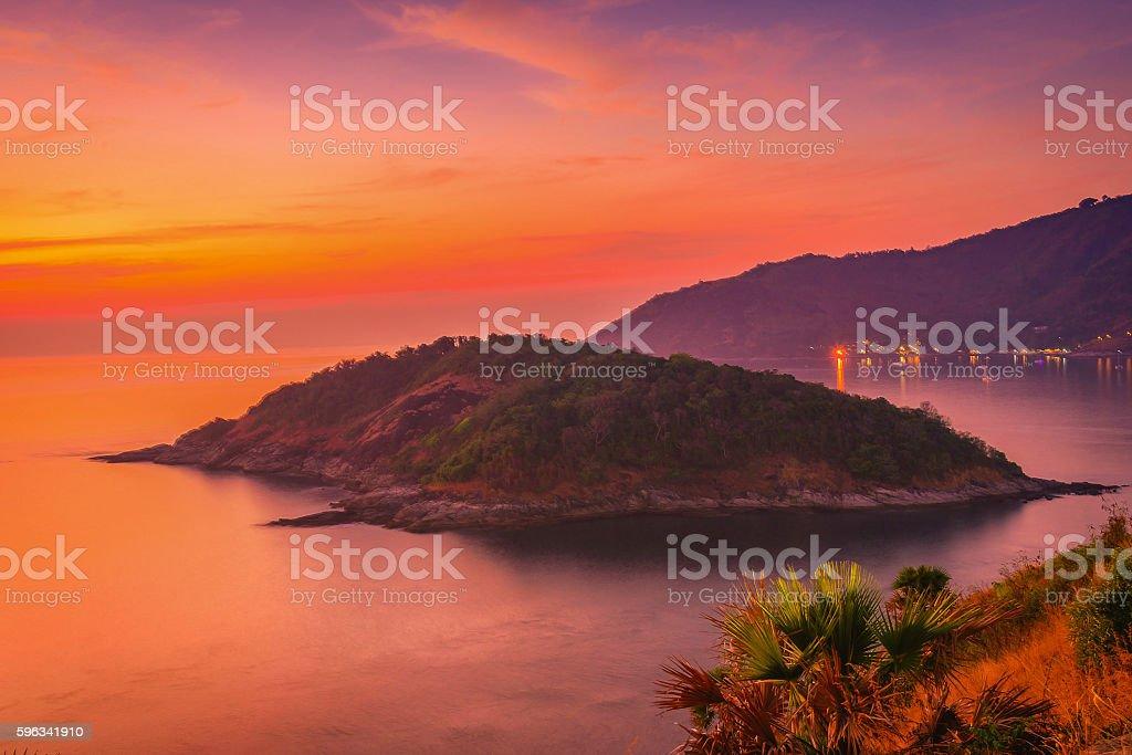 Viewpoint andaman sea at twilight sky in Phuket,Thailand royalty-free stock photo