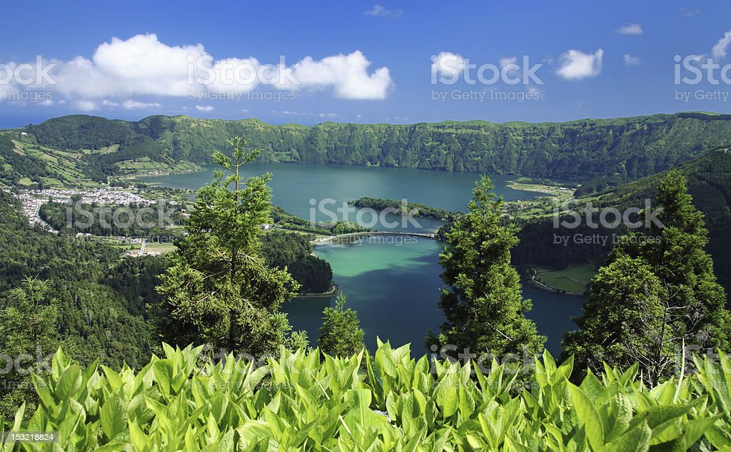 Viewpoint at Azores stock photo
