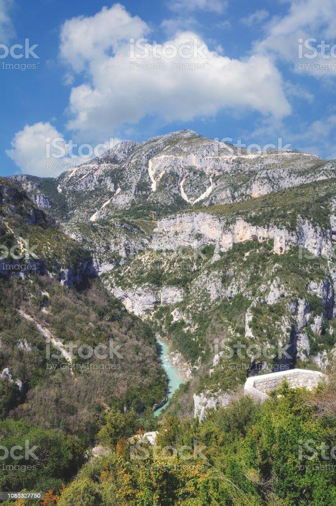 Viewpoint at Balcon de la Mescla,Verdon Gorge,Provence,France stock photo