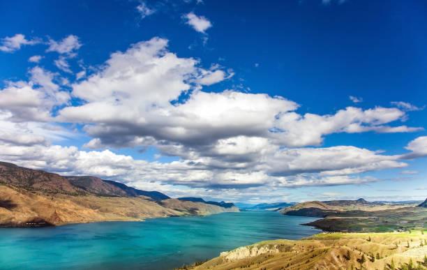Viewpoint at Savona at Kamloops Lak British Columbia Canada stock photo