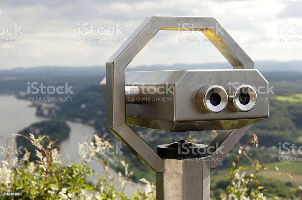 Viewpoint Drachenfels stock photo