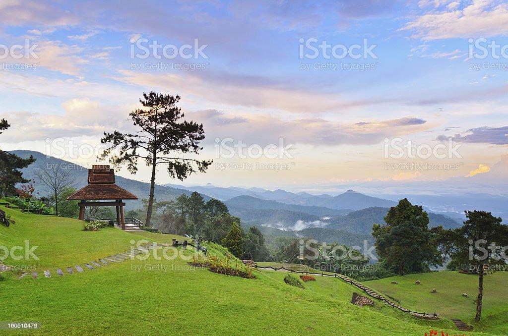 Viewpoint in national park. Huai Nam Dang. Thailand. royalty-free stock photo