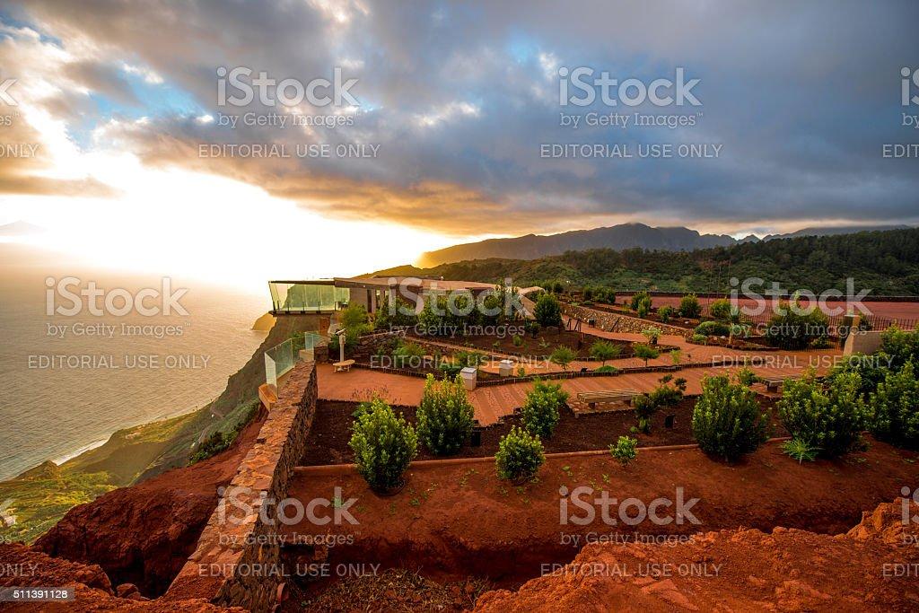 Mirador de Abrante on La gomera island stock photo