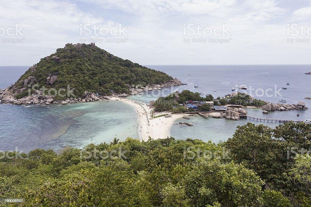 관점을 Nangyuan 도서지역 태국 royalty-free 스톡 사진