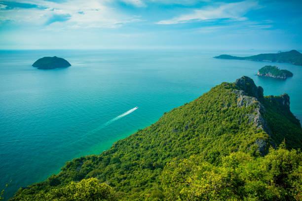 Viewpoint of Similan Islands Paradise Bay, Thailand stock photo