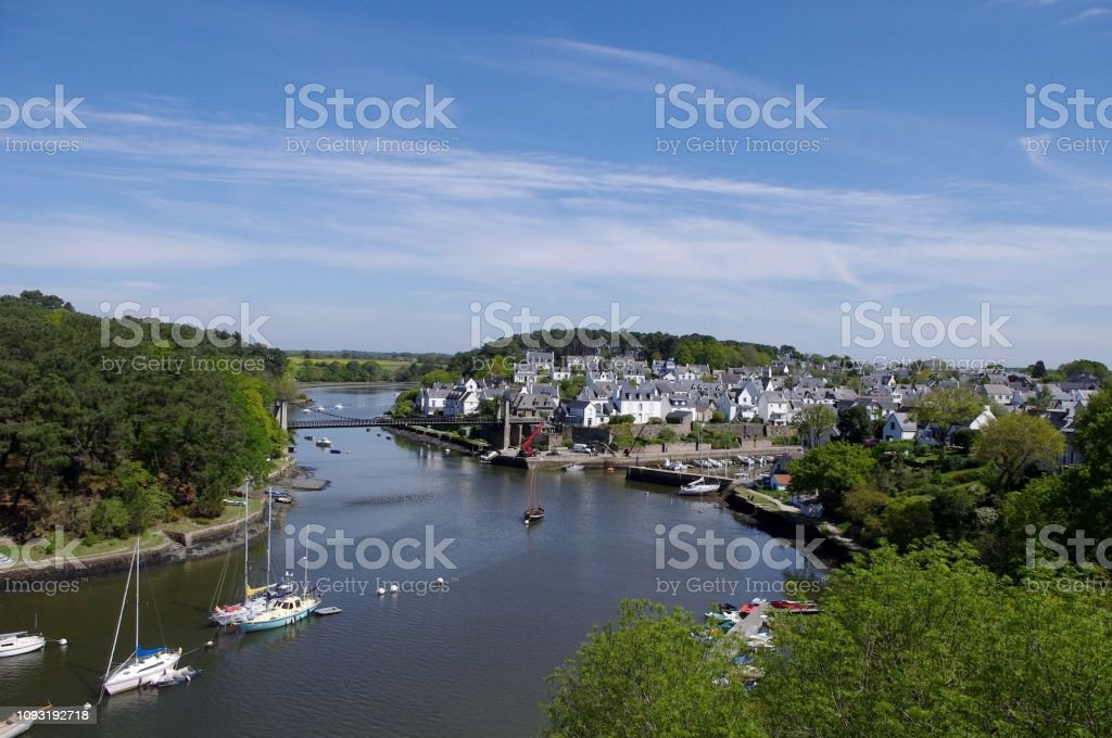 Viewpoint on the port of Bono stock photo