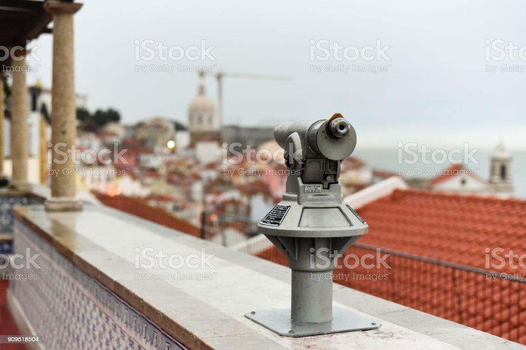 Viewpoint Santa Luzia, Lisbon, Portugalia stock photo