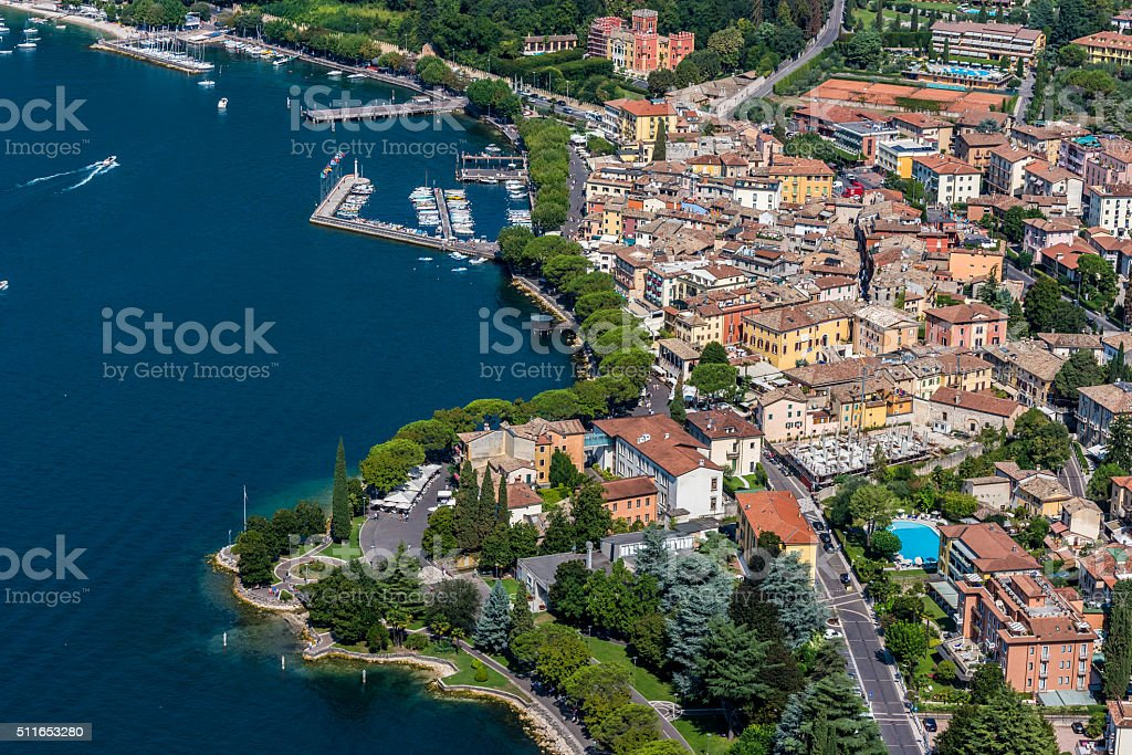 Viewpoint to Garda - Lake Garda in Italy stock photo