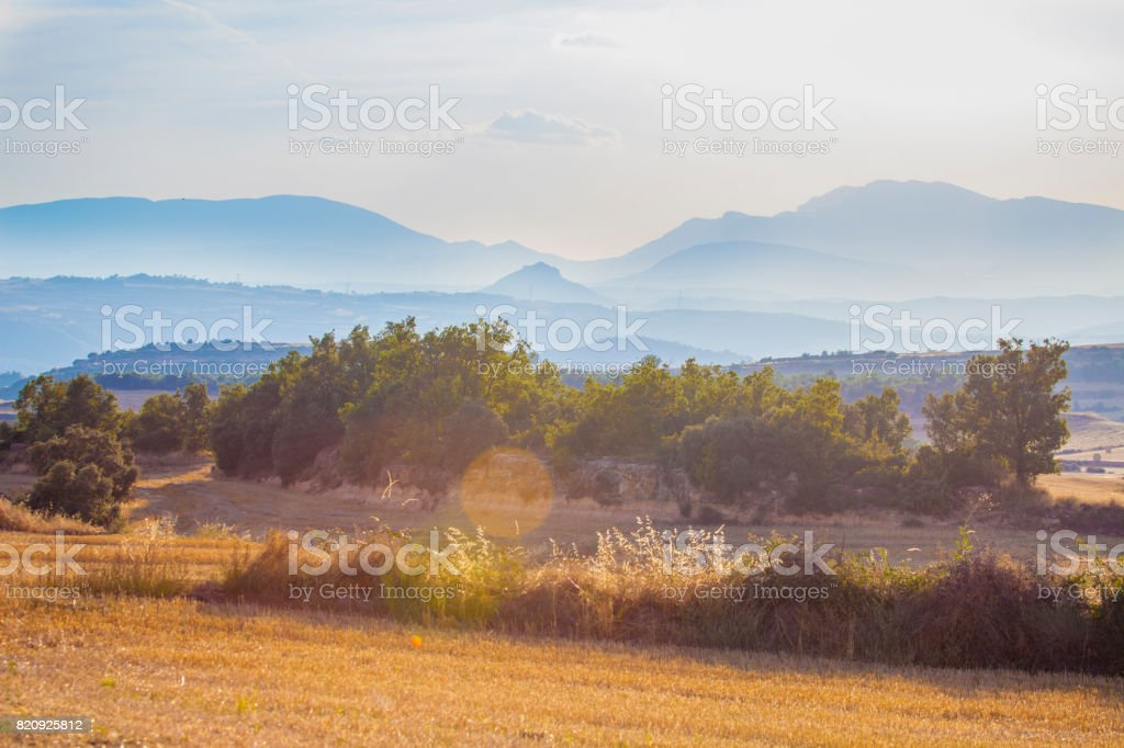 Views fro  Turana, looking towards South west - Catalonia stock photo