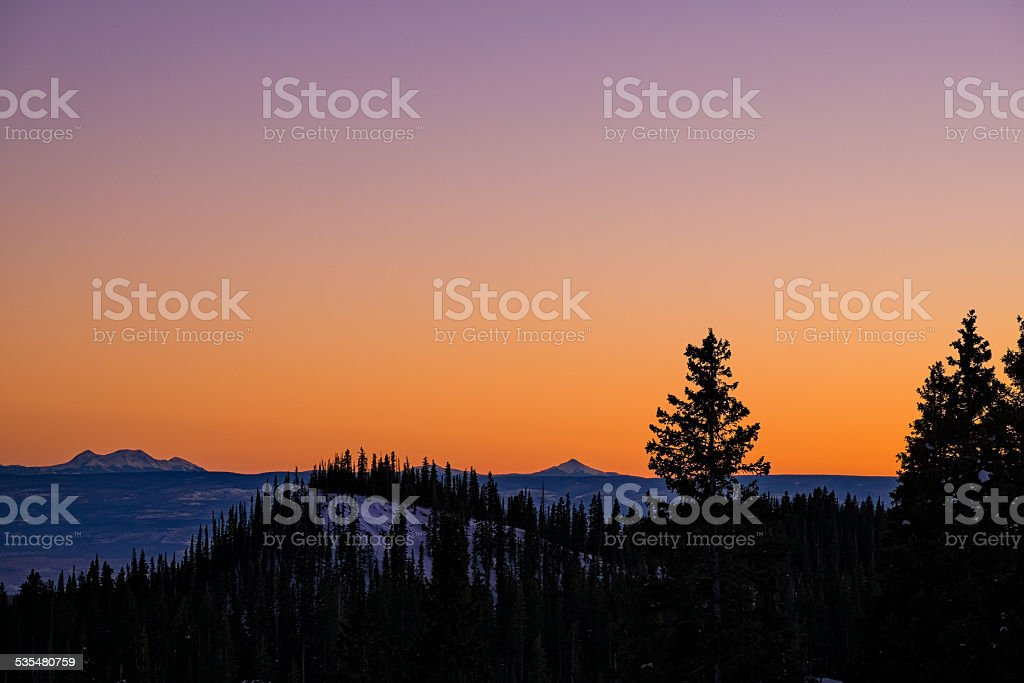 Views from Grand Mesa Colorado stock photo