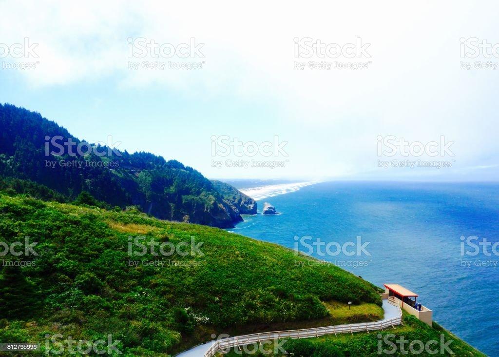 Views from Highway 101, Oregon Coast stock photo