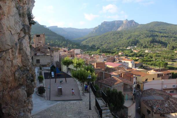 Views from Pratdip Castle, Spain - foto de stock
