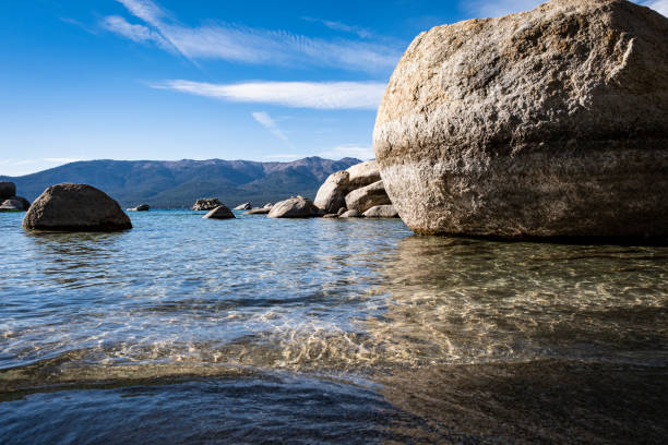 Views from Sand Harbor stock photo