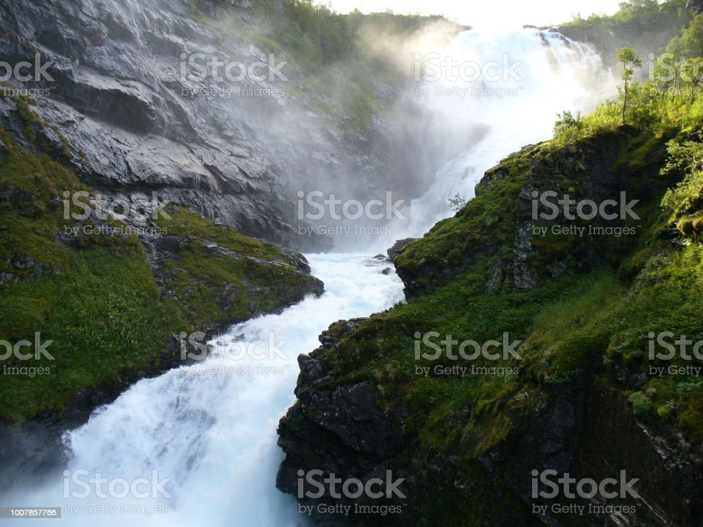 Views from The Flåm Railway, Norway stock photo