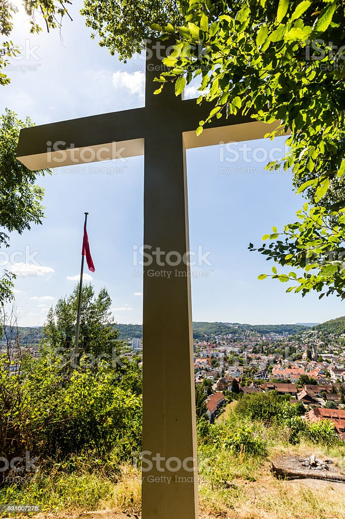 Views from the Mountain Sulperg to Wettingen stock photo