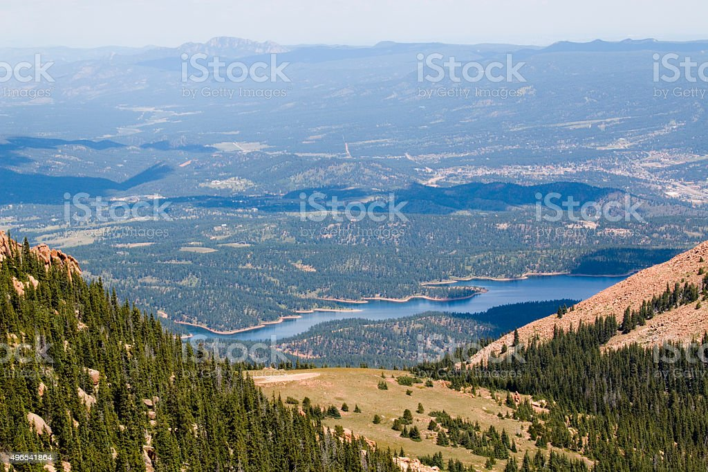 Views from the Pikes Peak Highway stock photo