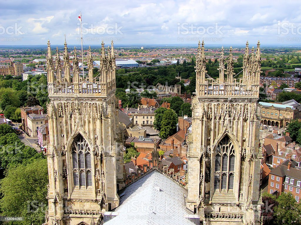 Views from York Minster, England stock photo