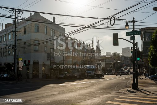 istock Views of a typical street in San Francisco, California, USA 1088739056