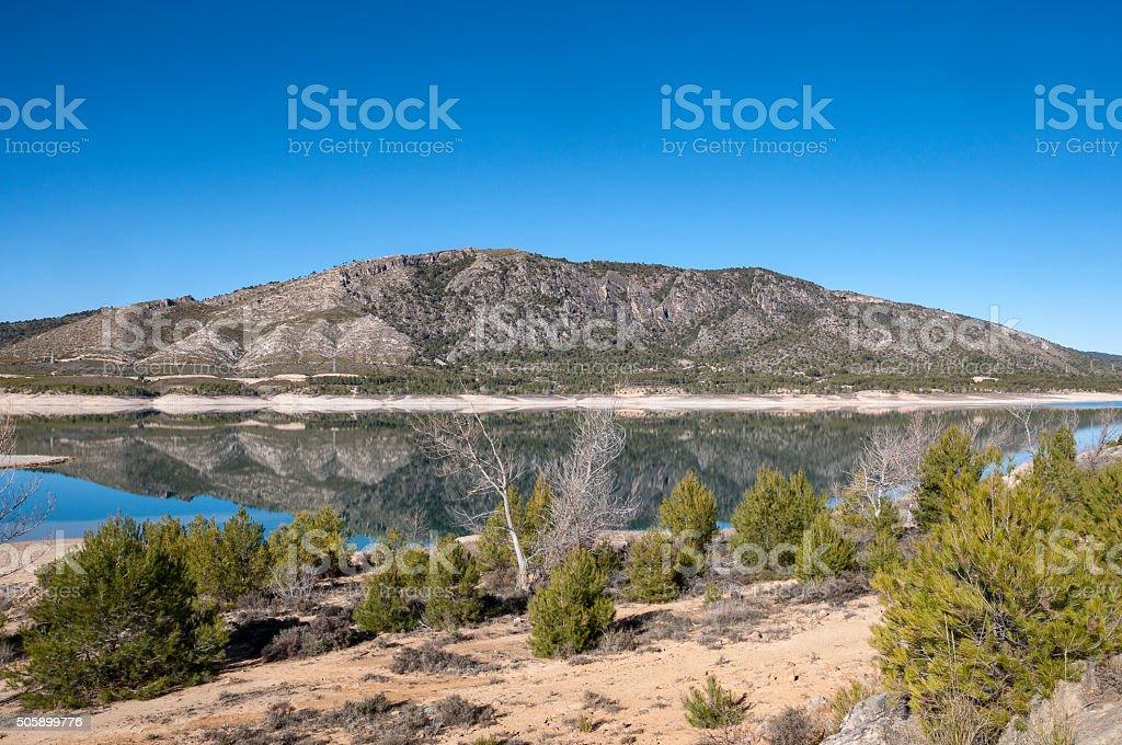 Views of Buendia Reservoir stock photo