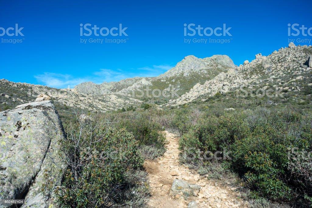 Views of Guadarrama Mountains stock photo