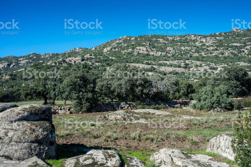 Views of Hoyo de Manzanares Range stock photo
