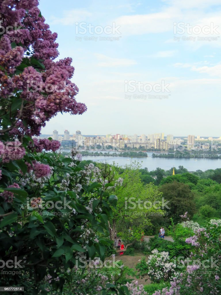vistas de Kiev do jardim botânico - Foto de stock de Antigo royalty-free