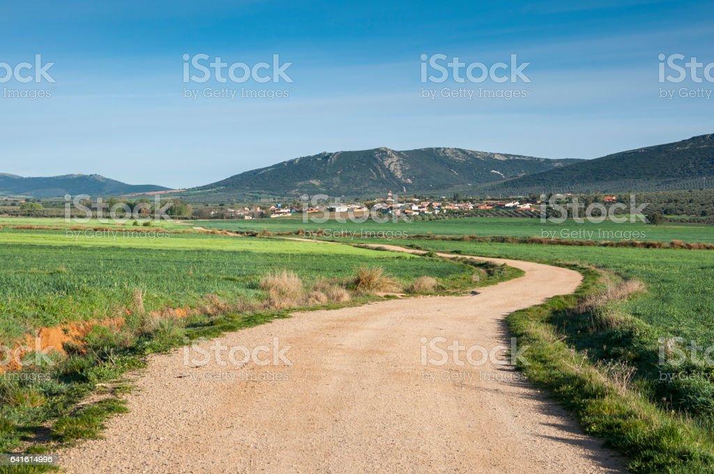 Views of La Fuencaliente, Malagón, Ciudad Real, Spain stock photo