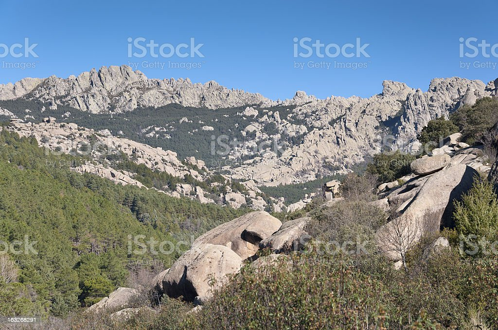 Views of La Pedriza, Madrid, Spain. royalty-free stock photo