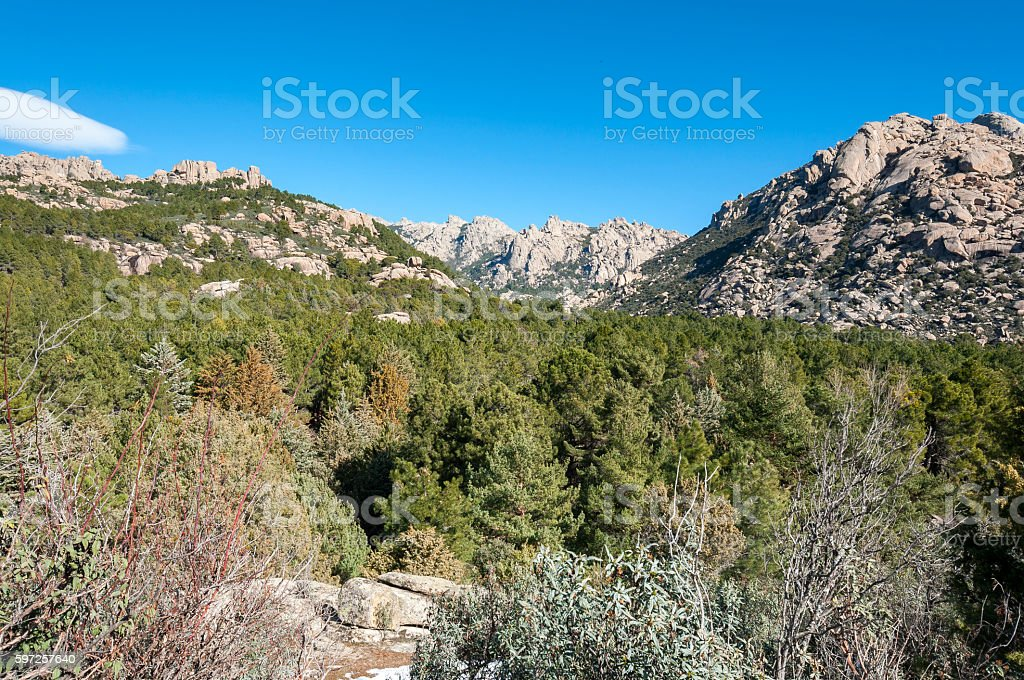 Views of La Pedriza, Madrid, Spain stock photo