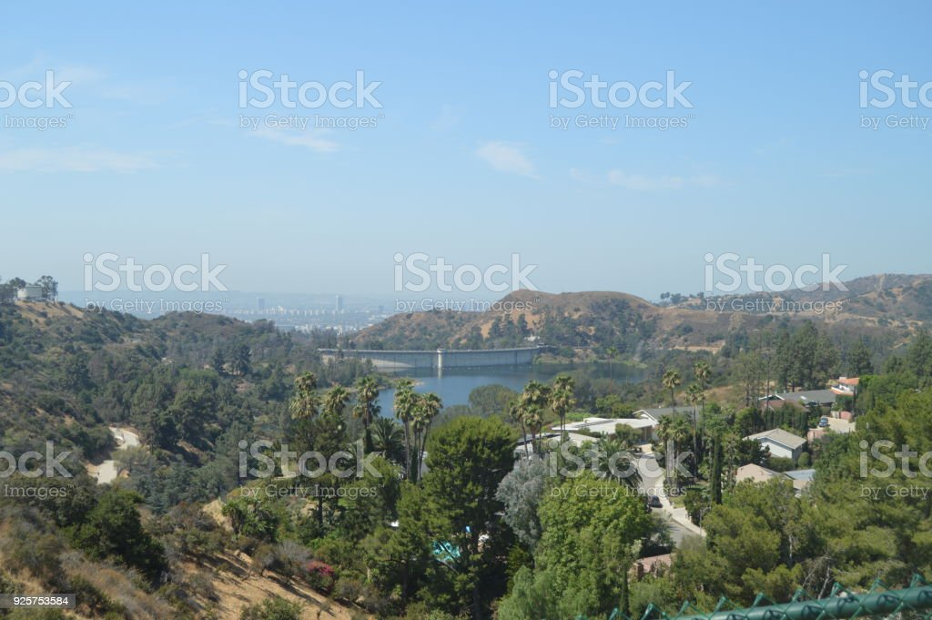Views Of Los Angeles From The Griffith Observatory In The South Area Of The Hollywood Mountain. stock photo