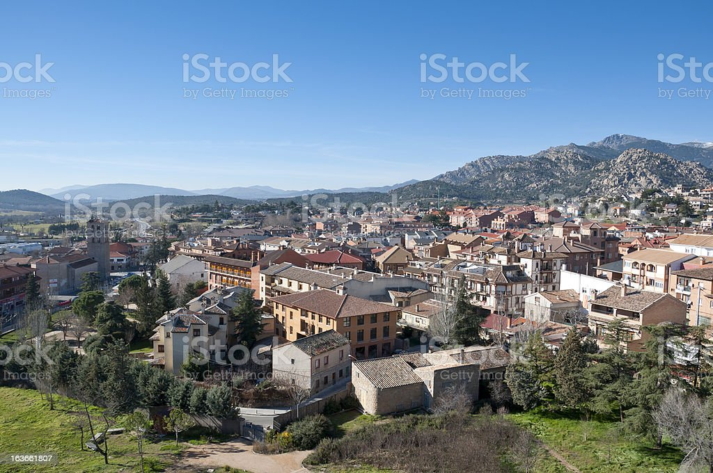 Views of Manzanares el Real stock photo
