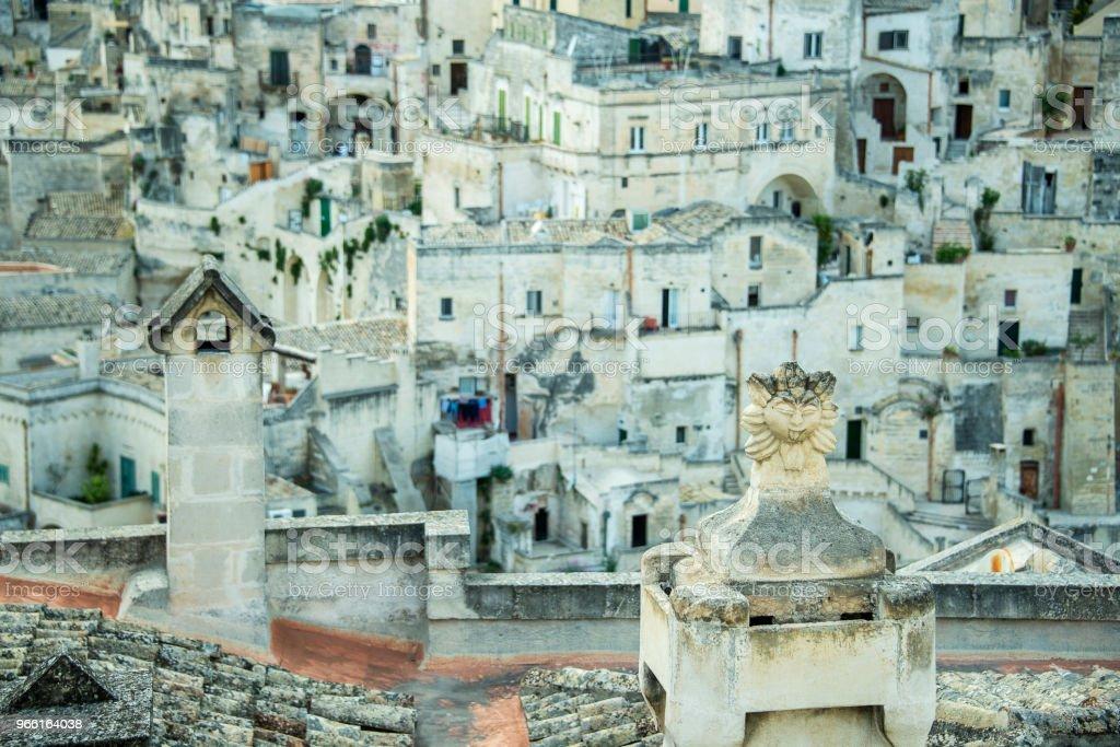 utsikt över Matera - Royaltyfri Arkitektur Bildbanksbilder