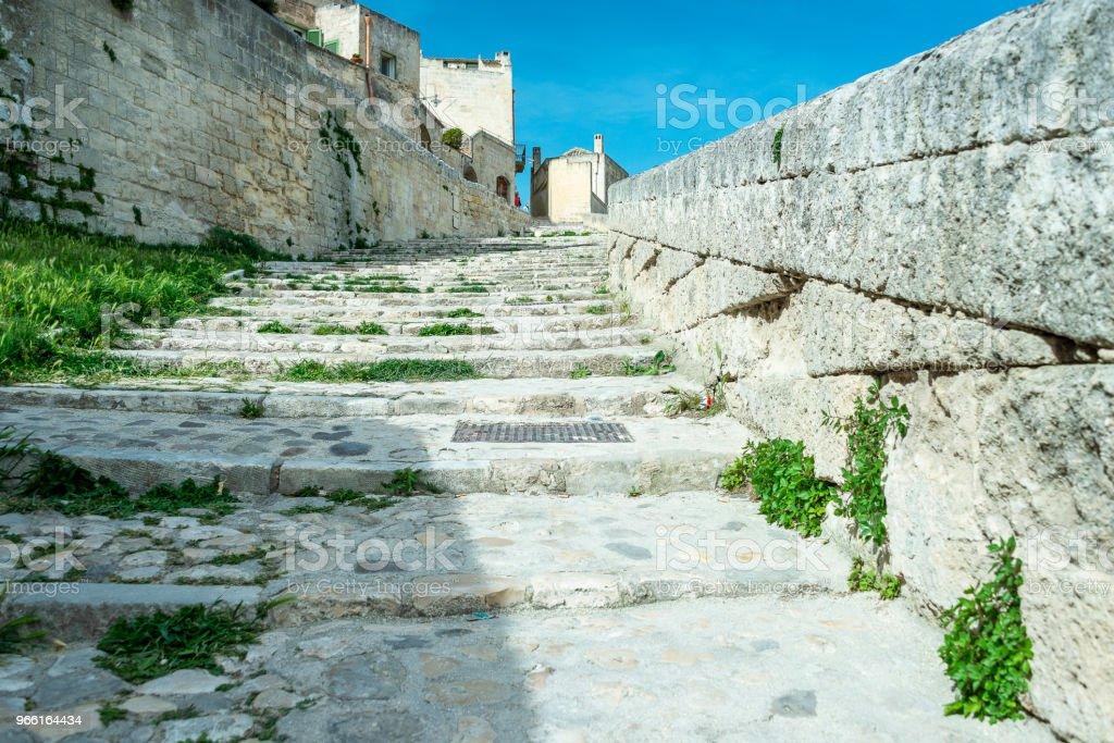 uitzicht op de stad Matera - Royalty-free Antiek - Toestand Stockfoto