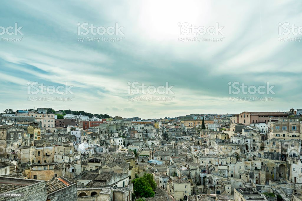 views of Matera city - Royalty-free Aldeia Foto de stock