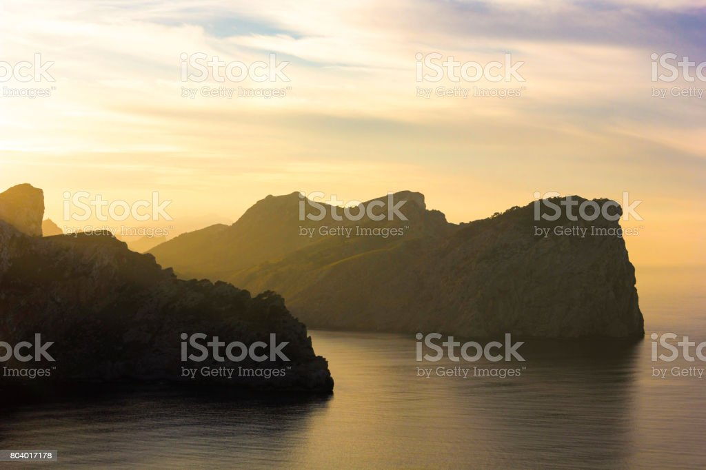 Views of Mountains and Landscapes at Cap de Formentor, in North Mallorca / Majorca stock photo