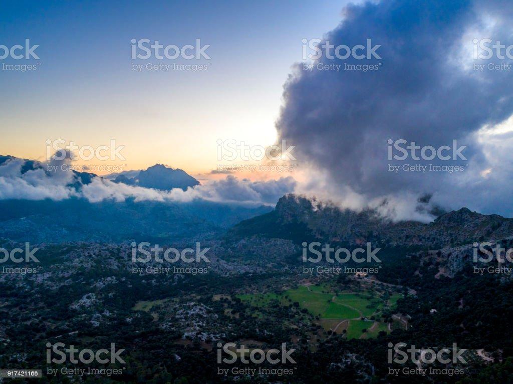 Views of Mountains and Landscapes in the Serra de Tramuntana, in North Mallorca / Majorca stock photo