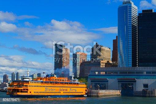 Views of New York City, USA. Staten Island Ferry.