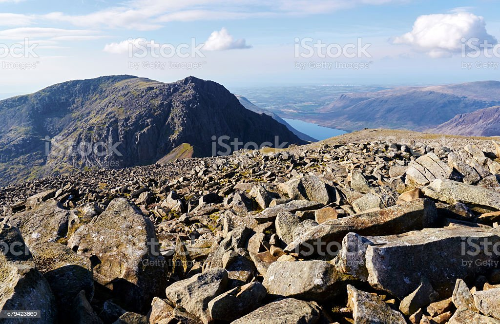 Views of Sca Fell & Wast Water. stock photo