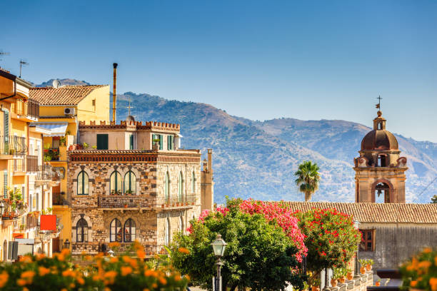 Views of Taormina Beatuful details of architecture in siciliat town Taormina sicily stock pictures, royalty-free photos & images
