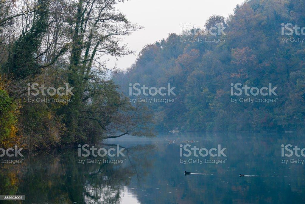 views of the Adda River stock photo