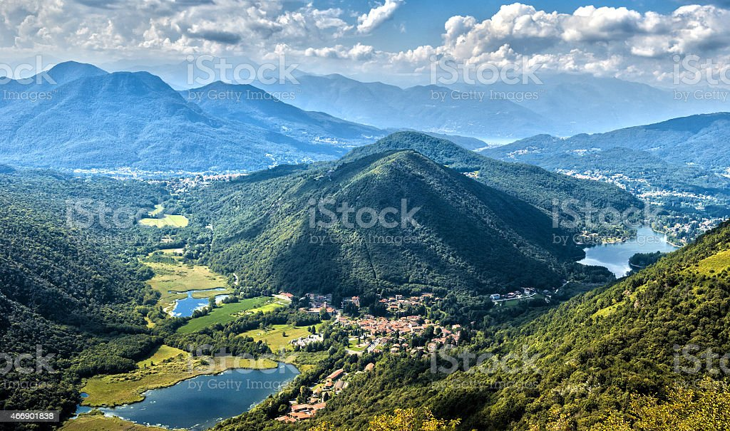 Views of the Alpine foothills of Varese stock photo