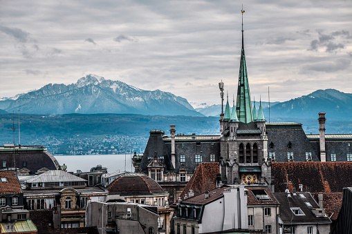 Views Of The Alps Above Lausanne, Switzerland