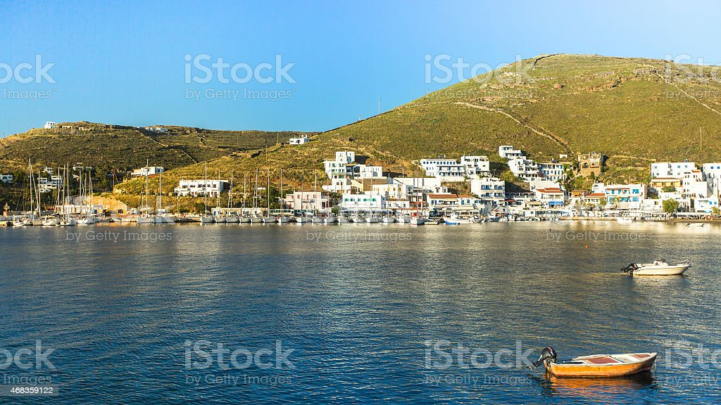 Views of the Bay and Kythnos Greek island. royalty-free stock photo