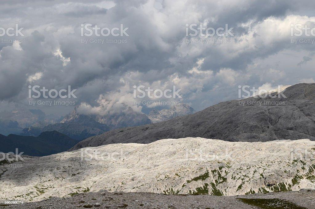 views of the Dolomites Mountains in the Southern Alps royaltyfri bildbanksbilder
