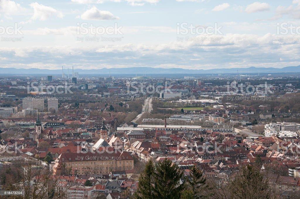Blick auf den Rhein Tal in der Nähe von Karlsruhe - Lizenzfrei Auswanderung und Einwanderung Stock-Foto