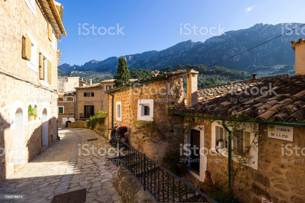 Views of the Sea and Town of Soller, in North Mallorca / Majorca - foto stock